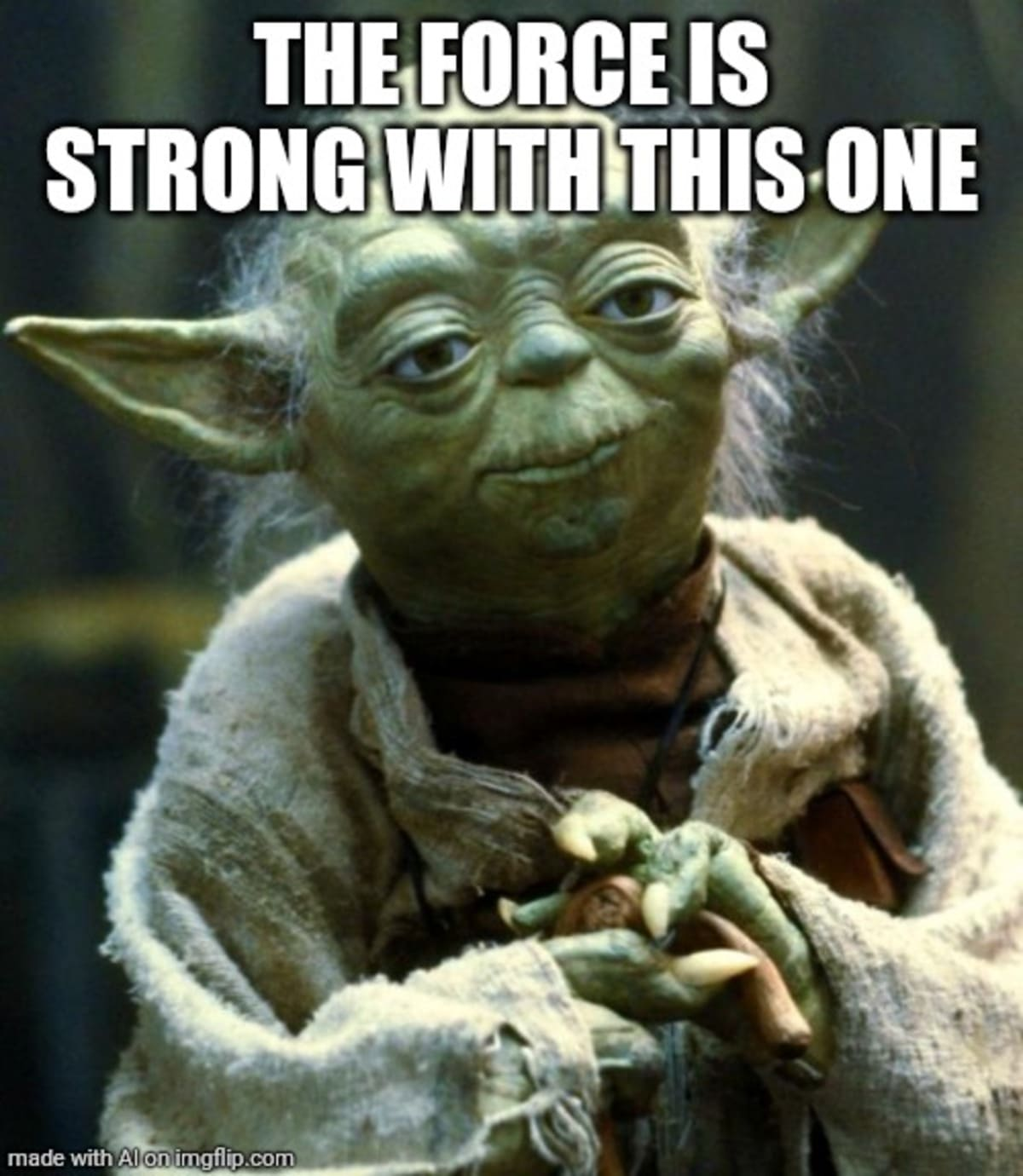 Yoda The force is strong with this one